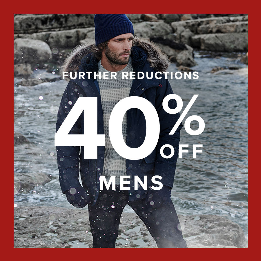Background image for Further Reductions | Up to 40% off Menswear