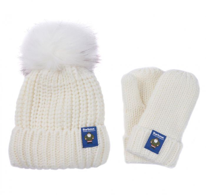 Barbour Children's Father Christmas Beanie and Mitten Giftset