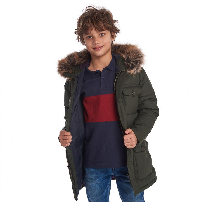 Barbour Boys' Morton Quilted Jacket