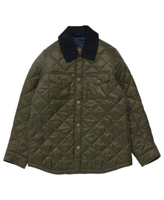 Barbour Boys Shirt Quilted Jacket