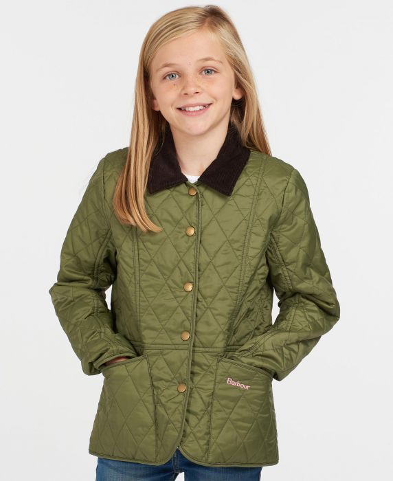 Barbour Girls Printed Summer Liddesdale Quilted Jacket