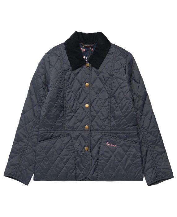 Barbour Girls Printed Summer Liddesdale Quilted Jacket