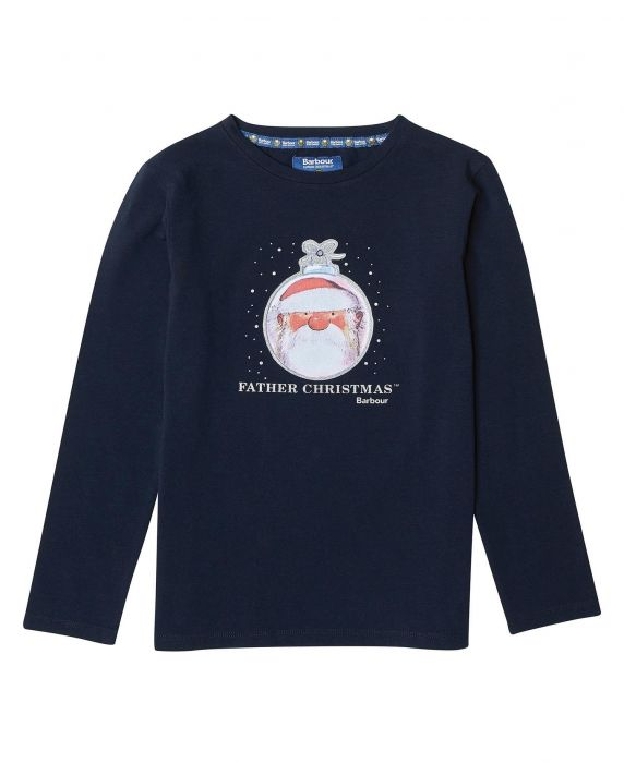 Barbour Girls' Father Christmas Annabel T-Shirt