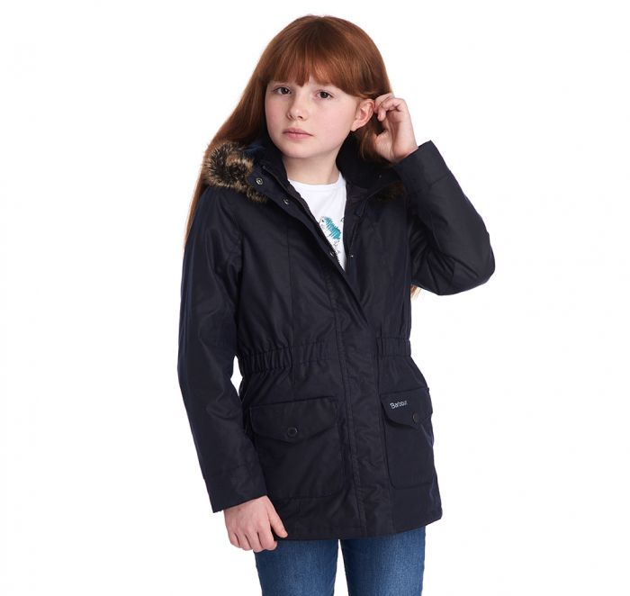 Barbour Girls' Tern Waxed Cotton Jacket