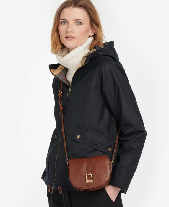 Barbour Laire Leather Saddle Bag