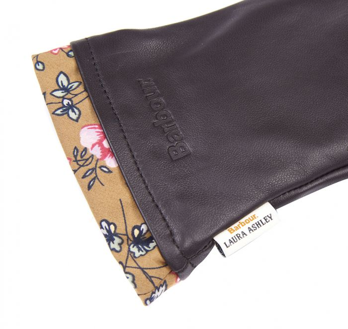 Barbour Laura Ashley Poplars Leather Gloves