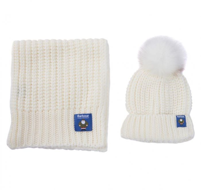 Barbour Father Christmas Beanie and Scarf Giftset