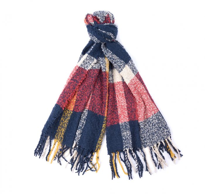 Barbour Ridley Boucle Check Scarf