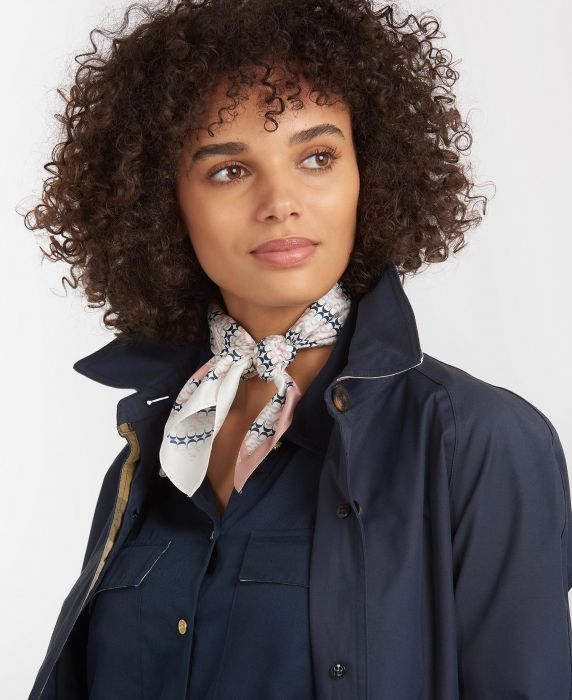 Barbour Monogram Silk Square