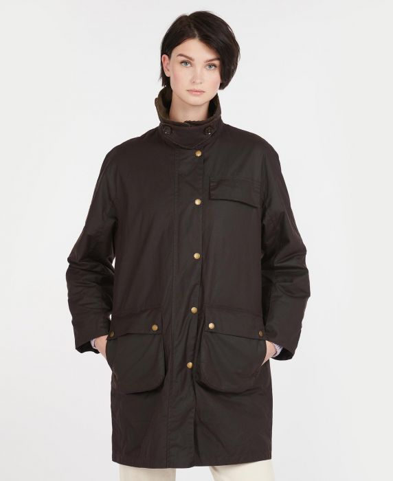 Barbour by ALEXACHUNG Rowan Waxed Cotton Jacket