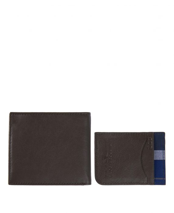 Barbour Leather Wallet/Card Gift Set