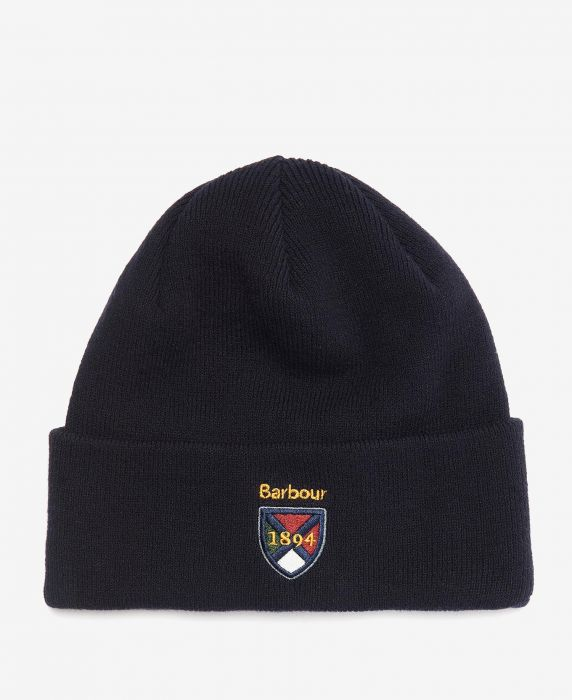 Barbour Embroidered Crest Beanie