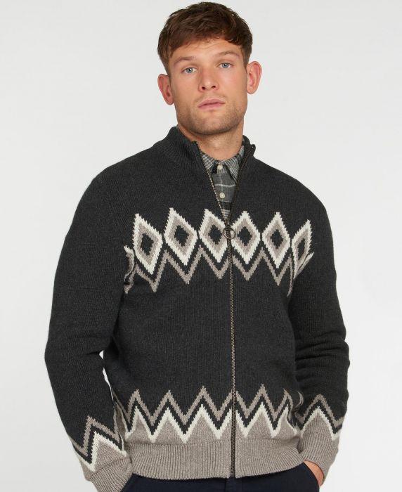 Barbour Egdon Knitted Zip Through Cardigan