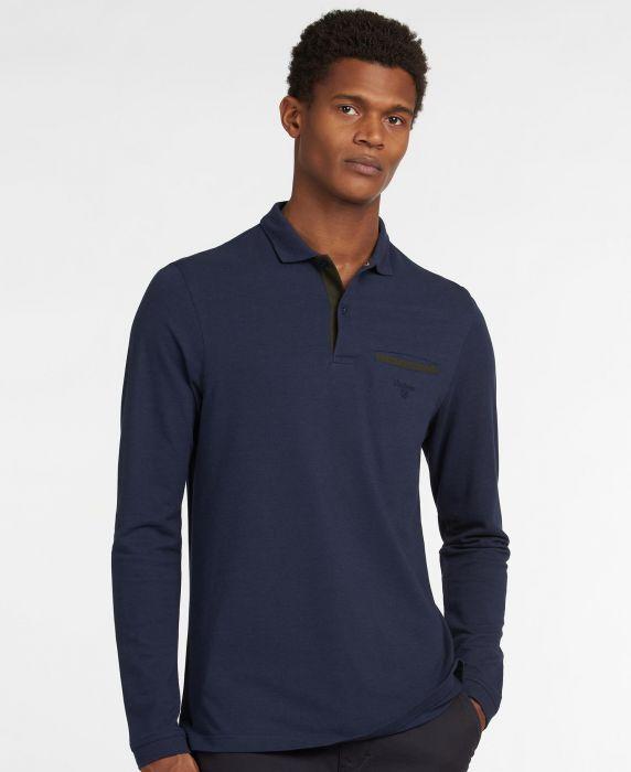 Barbour Essential Long Sleeve Pocket polo shirt