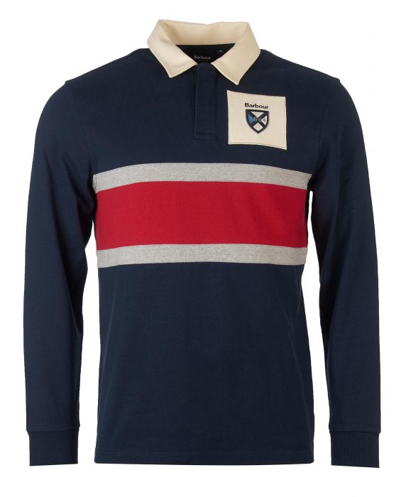 Barbour Crest Panel Rugby Shirt