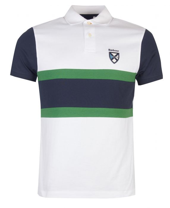 Barbour Crest Contrast Polo Shirt