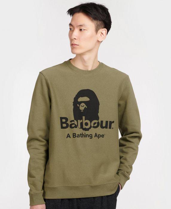 Barbour x BAPE Crew Sweatshirt