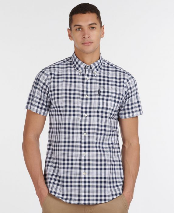Barbour Gingham 26 Short Sleeved Tailored Shirt