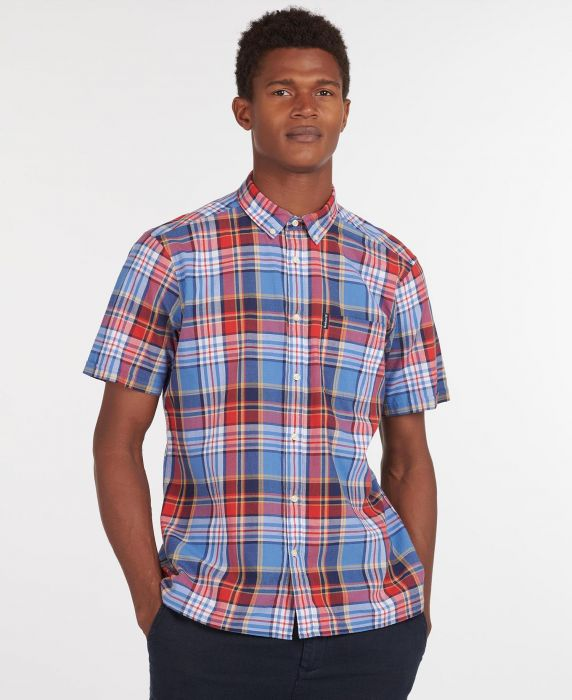 Barbour Madras 9 Short Sleeved Tailored Shirt