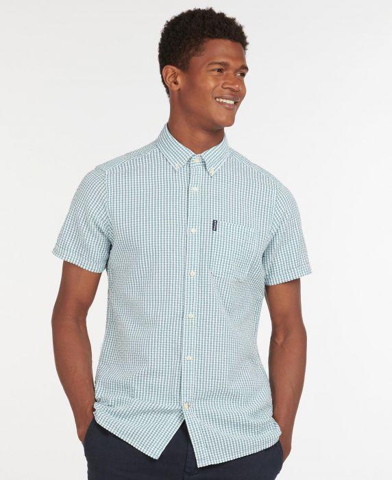 Barbour Seersucker 8 Short Sleeved Tailored Shirt