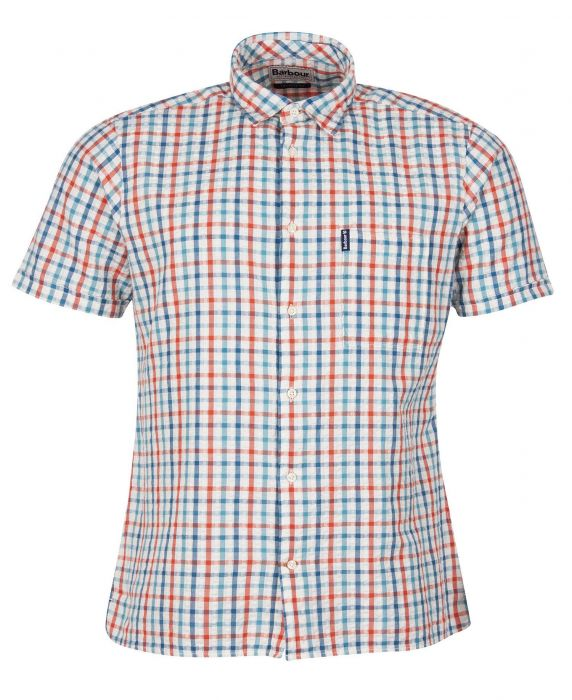 Barbour Seersucker 7 Short Sleeved Summer Shirt