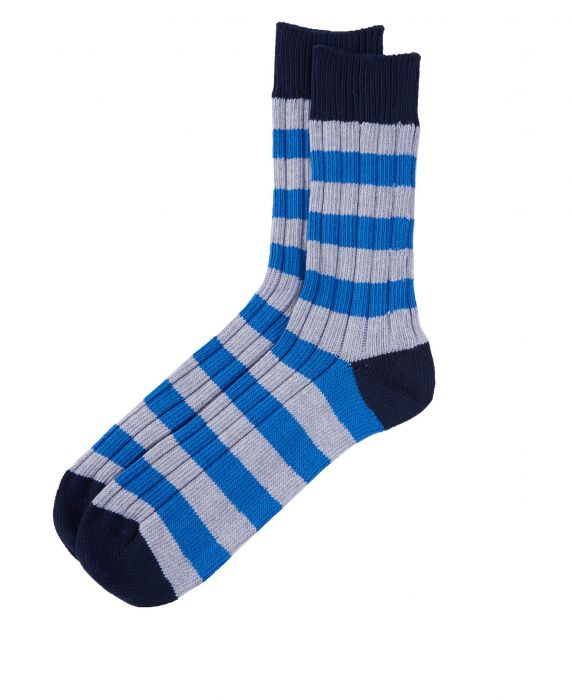 Barbour Ribbed Stripe Socks