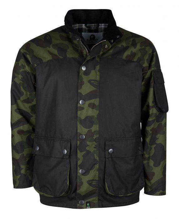 Barbour x BAPE Camo Rain Wax Jacket