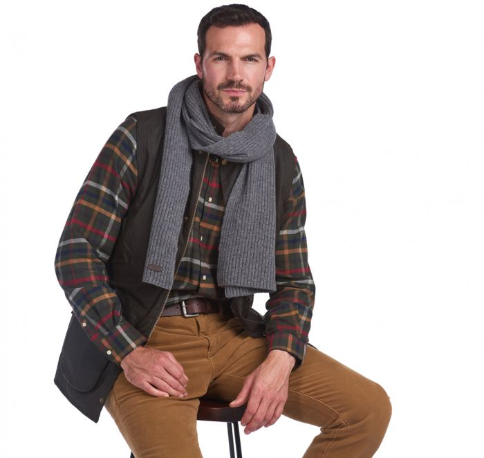 Barbour Plain Carlton Wool Scarf