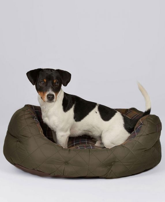 Barbour Quilted Dog Bed 24in