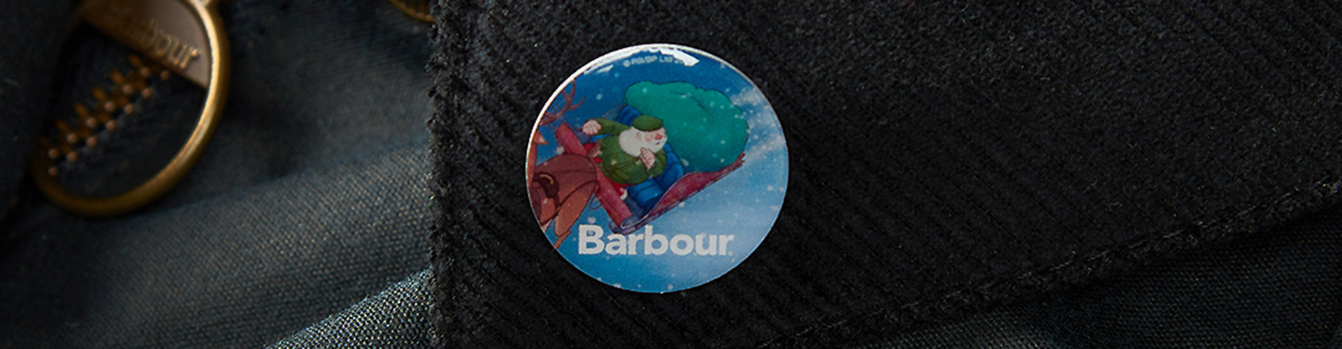 Barbour Christmas Pin Badge