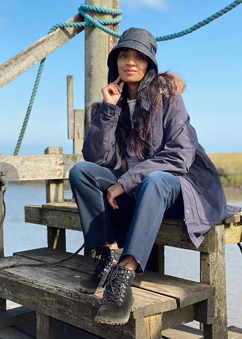 Chet Patel wears the Barbour AW20 Coastal collection