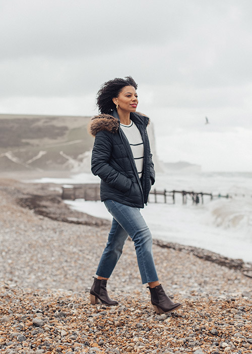 Eleanor Barkes wears the Barbour AW20 Coastal collection