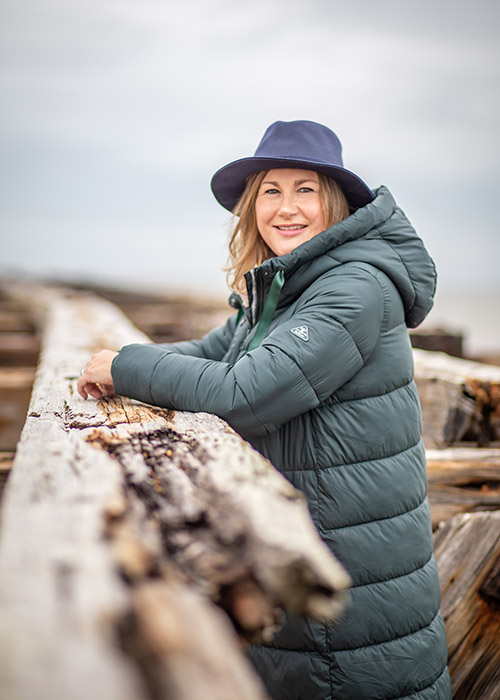 Emma Paton wears the Barbour AW20 Coastal collection