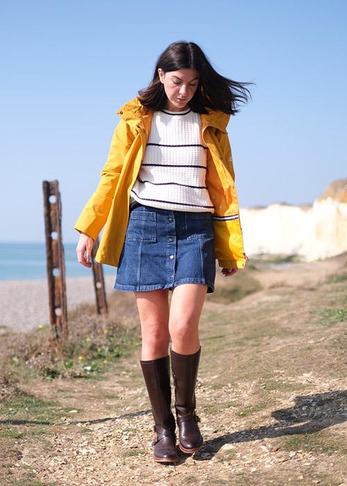 Francesca Saffari wears the Barbour AW20 Coastal collection