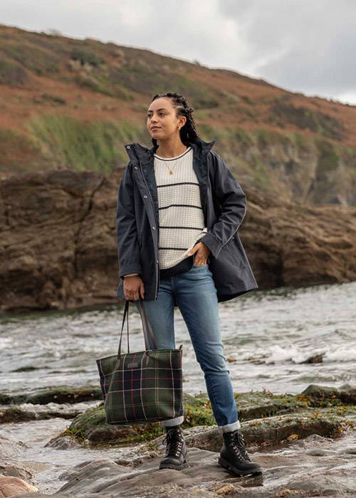 Hayley wears the Barbour AW20 Coastal collection