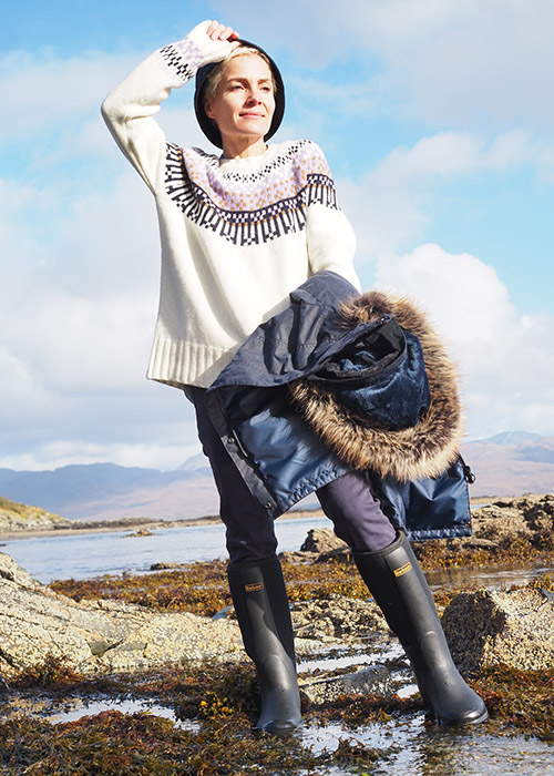 Julia Rebaudo wears the Barbour AW20 Coastal collection