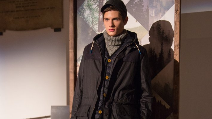 The first Barbour presentation at London Fashion week