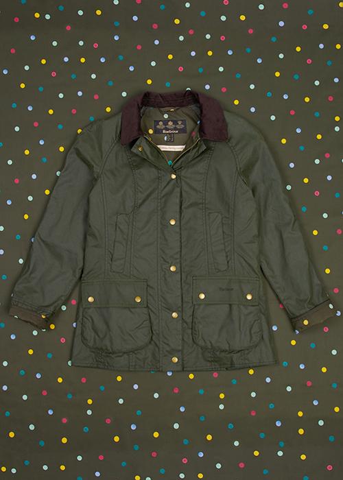 Emma Bridgewater X Barbour collection eleanor waxed jacket