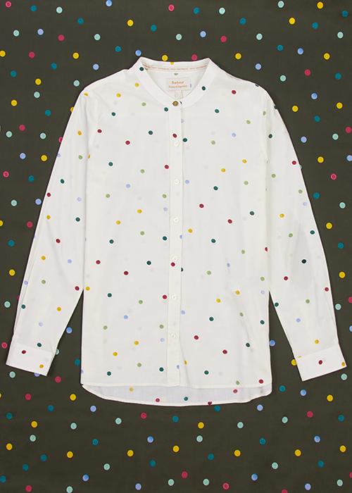 Emma Bridgewater X Barbour collection barbour spot shirt