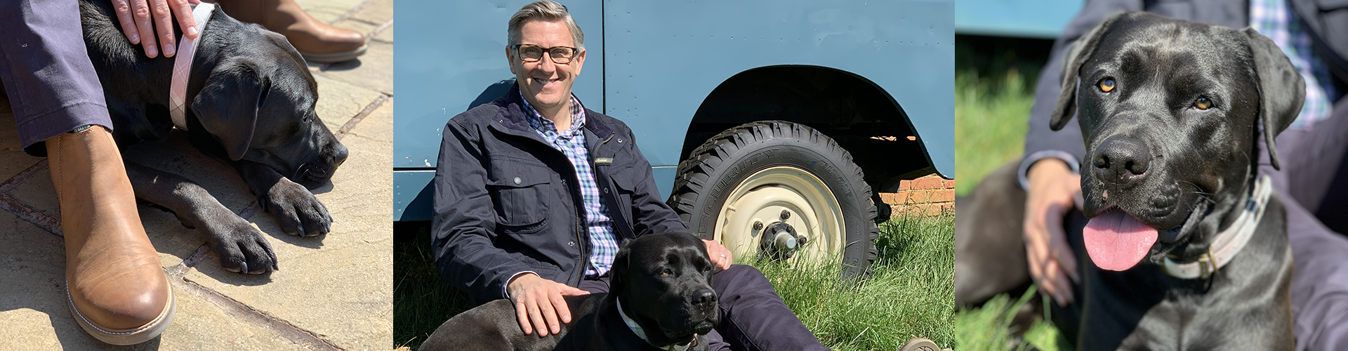 Dogfather Graeme Hall with Dog Lily