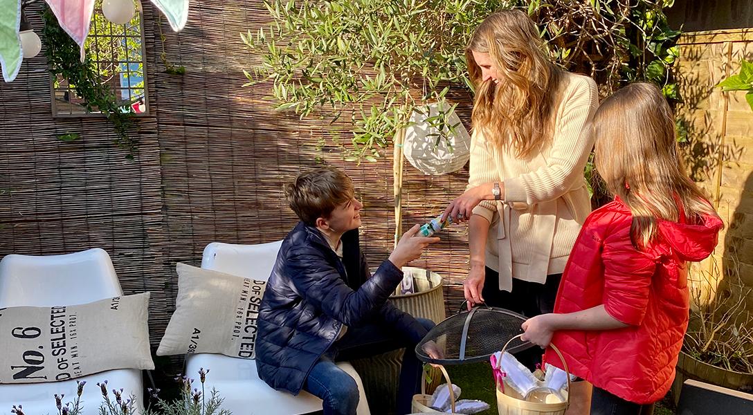 Kerry Lockwood's Family doing Easter Egg Hunt