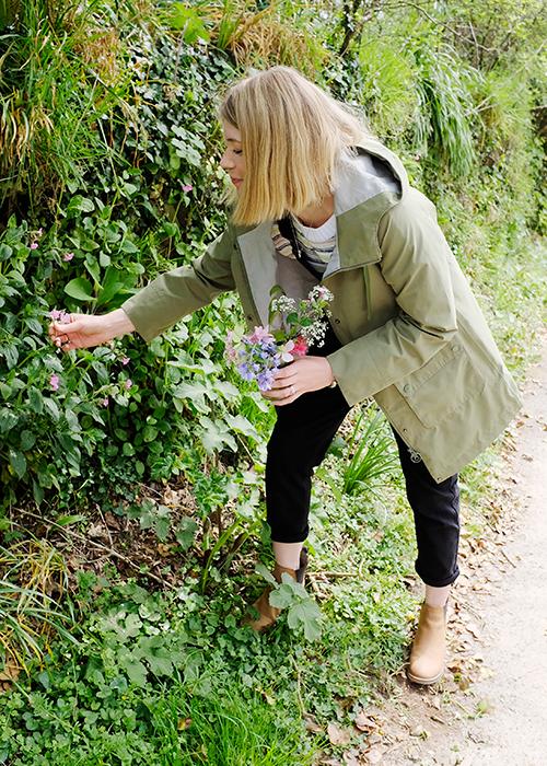 Lee Foster-Wilson gathering flowers