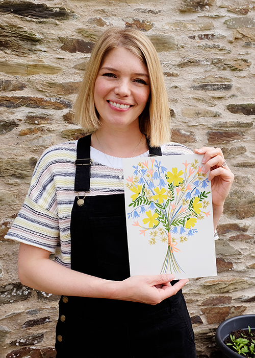 Lee Foster-Wilson and her nature drawing