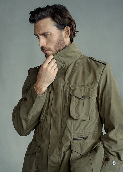 Sam Claflin wears Barbour Gold Standard SS21 collection
