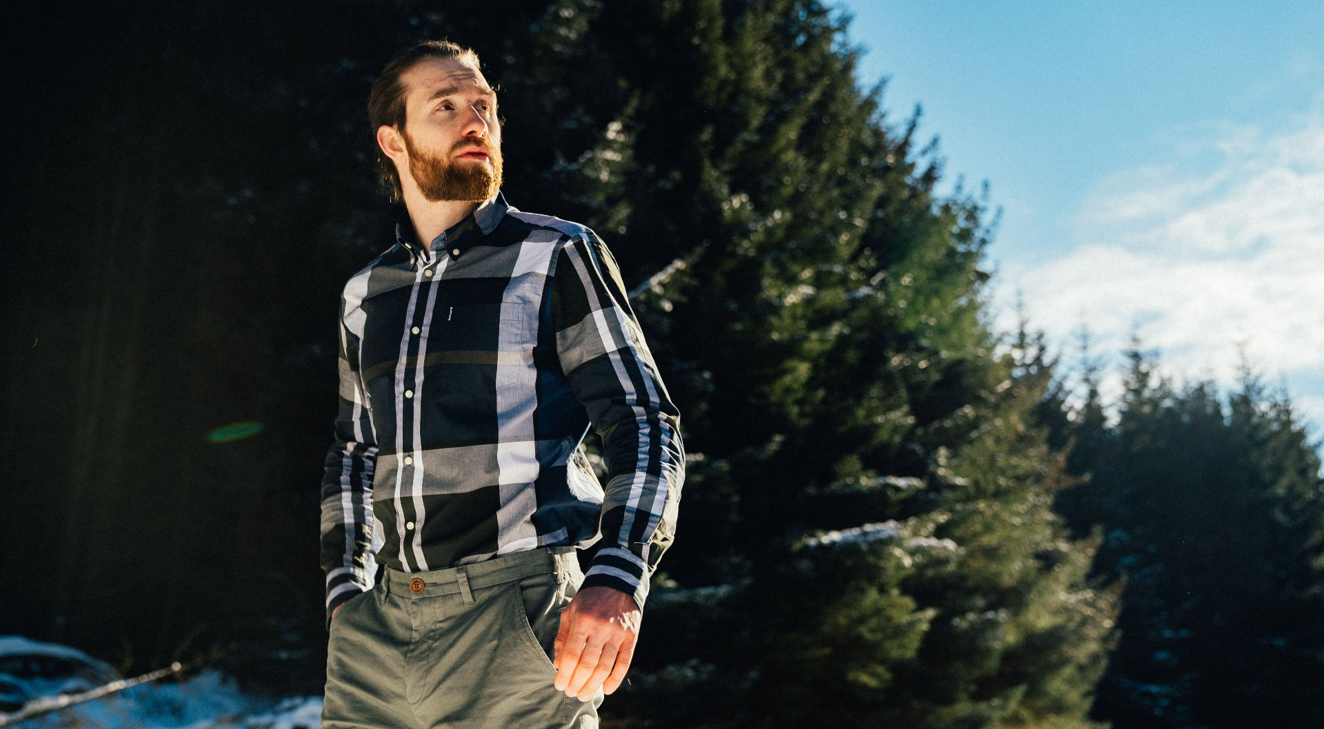 Tristan styles the Men's Tartan SS21 Collection