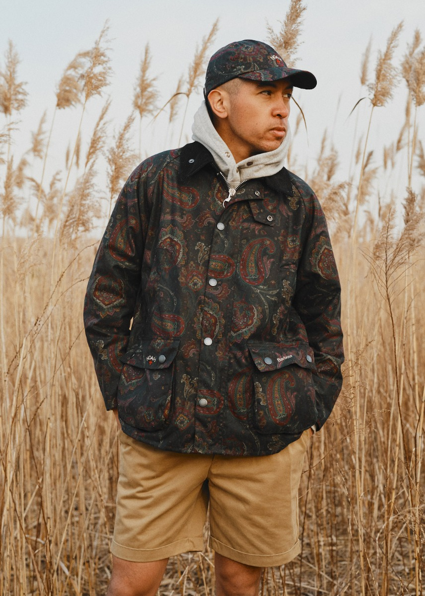 Man styles the Barbour X Noah collection