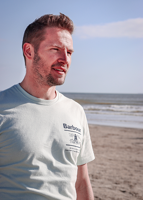 Matthew styles the Barbour Summer Shop collection on his British staycation with the family