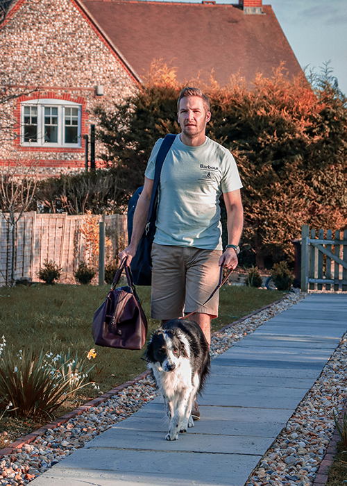 Matthew styles the Barbour Summer Shop collection on his British staycation with the family width=