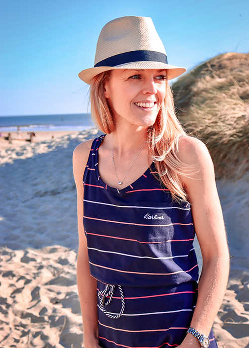 Sarah-Jane styles the Barbour Must-haves collection on her British staycation