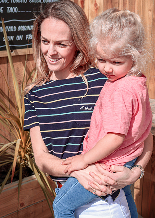 Sarah-Jane styles the Barbour Must-haves collection on her British staycation with the family